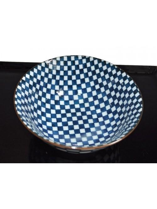 Bol porcelaine du Japon motif damier - La Galerie Equitable