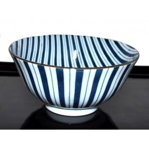 Bol porcelaine du Japon motif rayures - La Galerie Equitable
