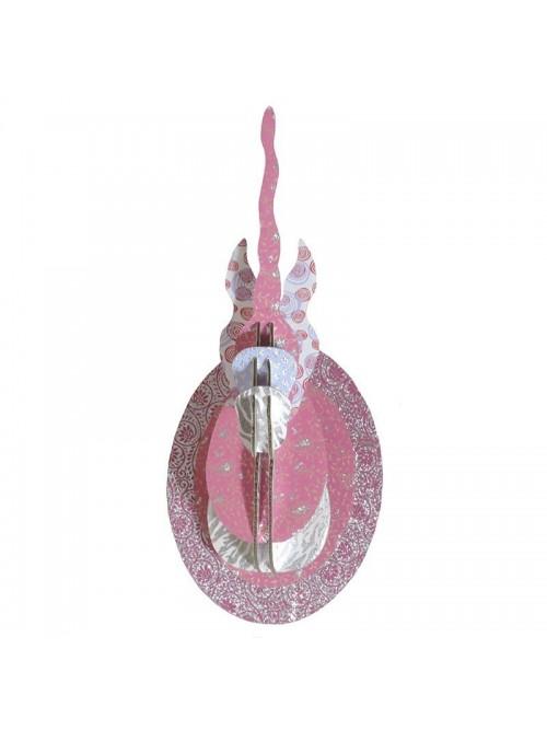 Tête de licorne 3D en carton - La Galerie Equitable