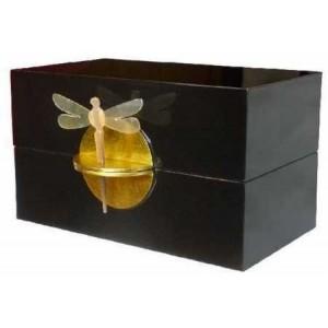 Boîte à bijoux laque noire La Galerie Equitable