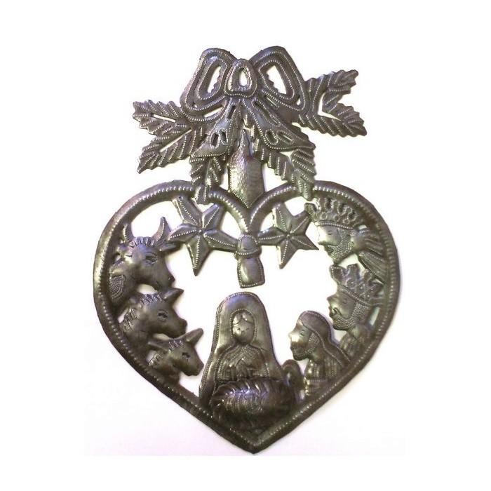crèche de noël en métal martelé - Haïti - La Galerie Equitable
