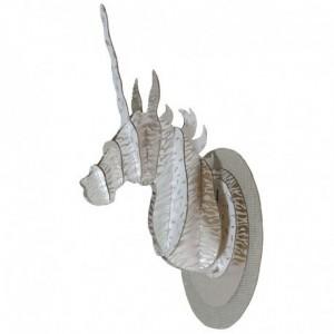 Tête de licorne 3D or et argent - La Galerie Equitable