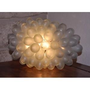 Lampe grappe verre soufflé en Syrie - La Galerie Equitable