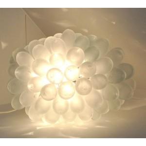 Lampe gouttes verre soufflé en Syrie - La Galerie Equitable