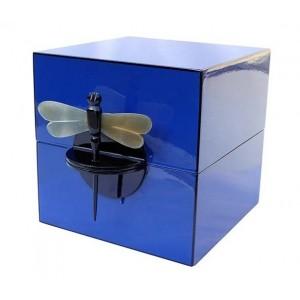 Coffret à bijoux laqué bleu - La Galerie Equitable