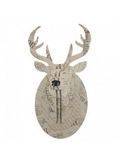 Trophée tête de cerf Calligraphie - La Galerie Equitable
