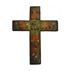 Croix murale en métal peint - La Galerie Equitable