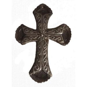 Croix métal martelé d' Haïti - La Galerie Equitable
