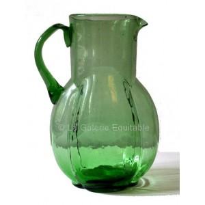 Pichet à eau années 20 en verre - La Galerie Equitable