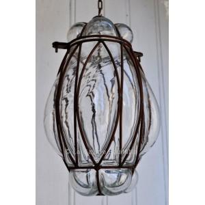 Lampe à suspendre en verre - La Galerie Equitable