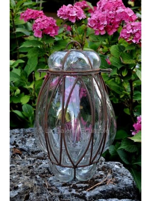 Lanterne verre et fer forgé - La Galerie Equitable