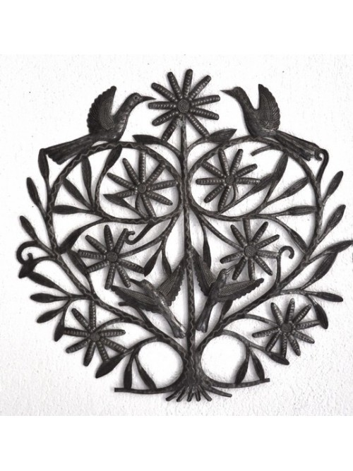 Petit  décor mural en métal martelé - La Galerie Equitable