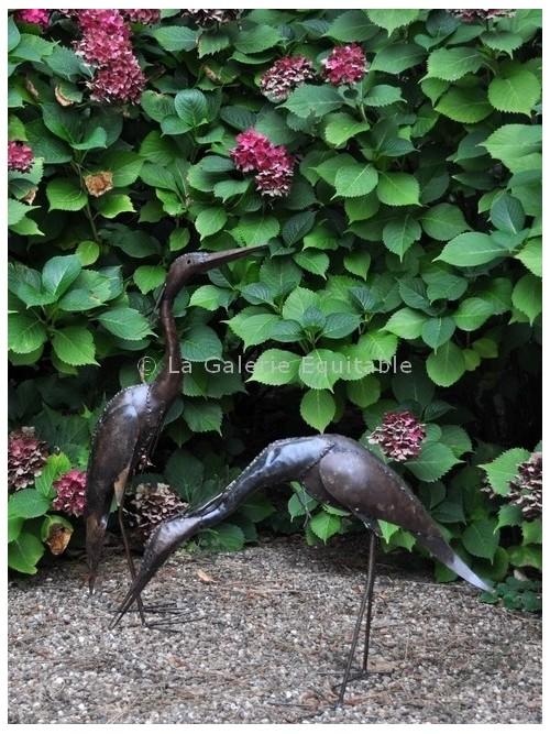 Oiseaux en métal pour le jardin - La Galerie Equitable