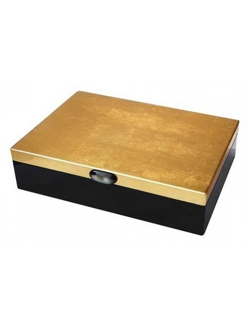 Coffret laqué noir et or - La Galerie Equitable