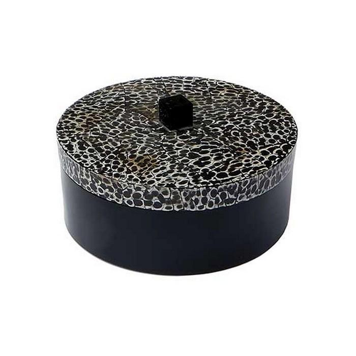 Boîte ronde laque et coquilles d'oeufs - La Galerie Equitable