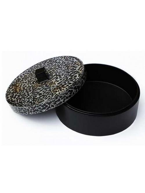 Boîte ronde laque et coquille d'oeuf - La Galerie Equitable