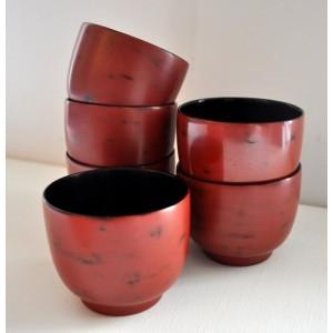 Tasses à thé en laque de Birmanie - La Galerie Equitable