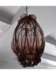 Lampe verre soufflé mûre - LaGalerie Equitable