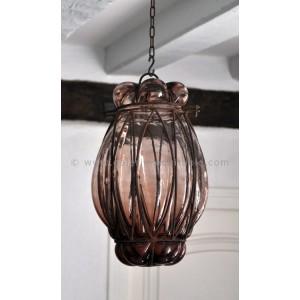 Lanterne verre et métal - La Galerie Equitable