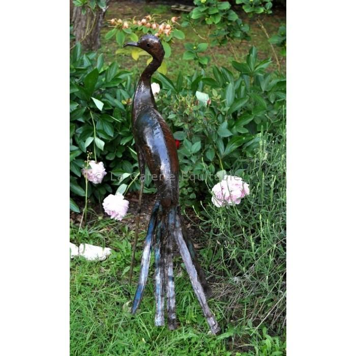 Oiseaux en metal recycle deco pour le jardin - La Galerie Equitable