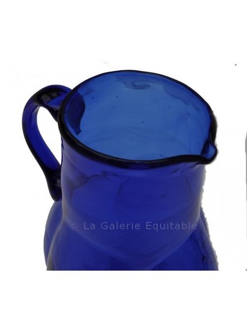 Pichet à eau en verre soufflé - La Galerie Equitable