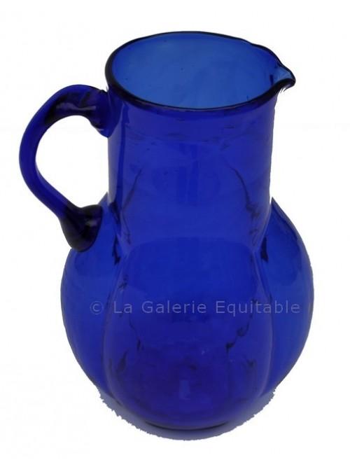 Pichet à eau bleu années 20 - La Galerie Equitable