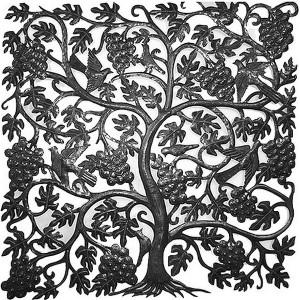Panneau sculpté : La vigne