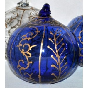 Boule de Noël verre soufflé la galerie équitable