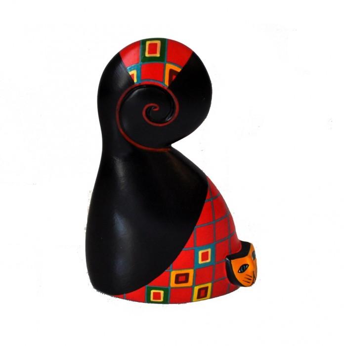 Chat en céramique peinte - Pérou - La Galerie Equitable