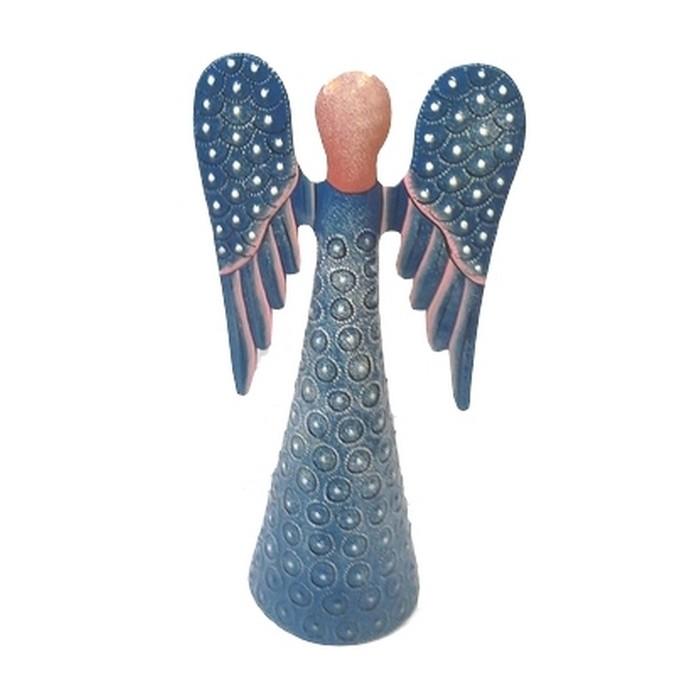 Ange bleu en métal