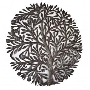 Décor mural en métal martelé arbre Haïti