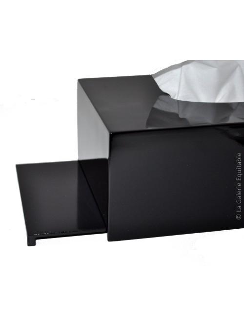Boîte à mouchoir laquée noire