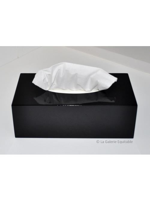 Boîte à mouchoirs laque noire
