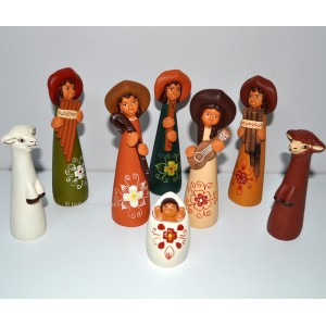 Crèche du Pérou, poterie artisanale.