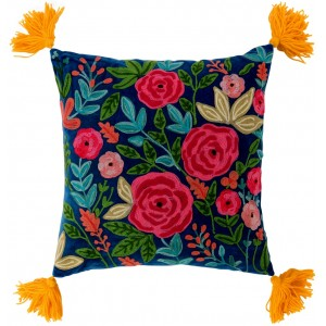 Coussin roses brodées