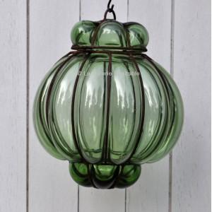 Lampe boule verte
