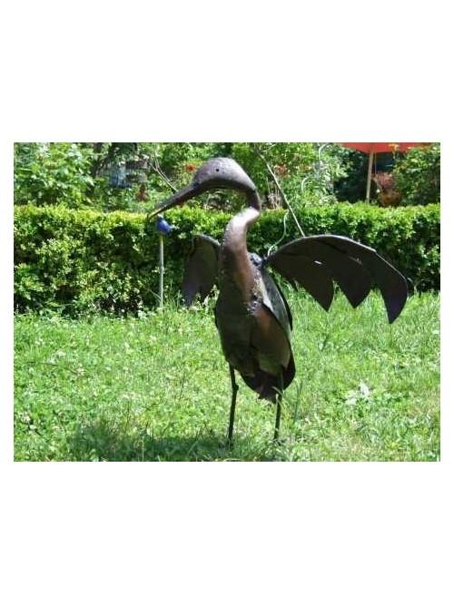 Oiseau en métal pour le jardin - Cormoran - La Galerie Equitable