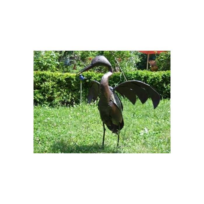 Oiseau en m tal pour jardin cormoran la galerie equitable - Oiseaux metal pour jardin ...
