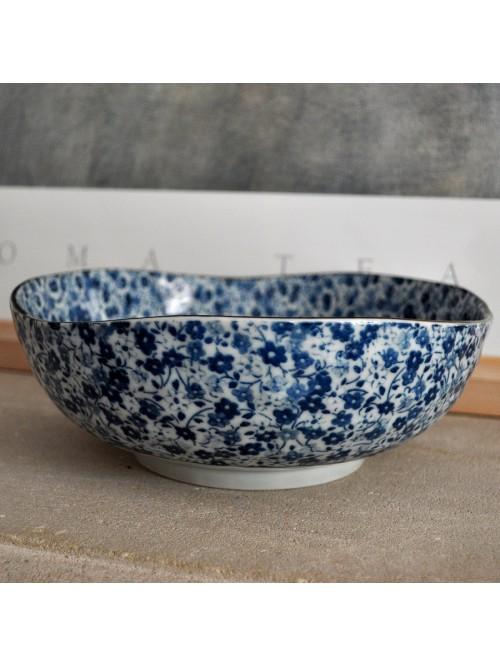 saladier japonais fleurs bleues