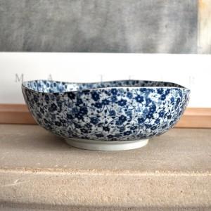 saladier fleurs bleues Japon