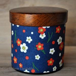 Boîte à thé décor bleu