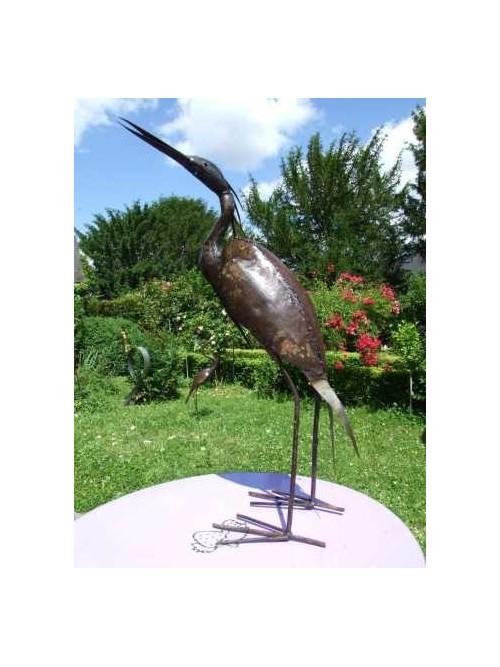 Oiseau en métal pour le jardin - Aigrette - La Galerie Equitable