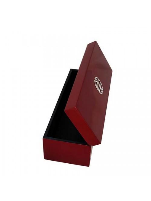 Boîte laque rouge et décor coquilles d'œufs - La Galerie Equitable
