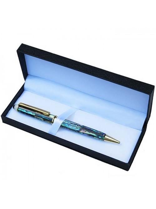 Stylo en nacre irisée bleue - La Galerie Equitable
