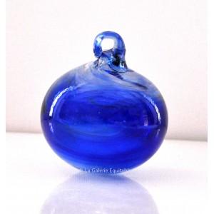 Petite boule de Noël bleue