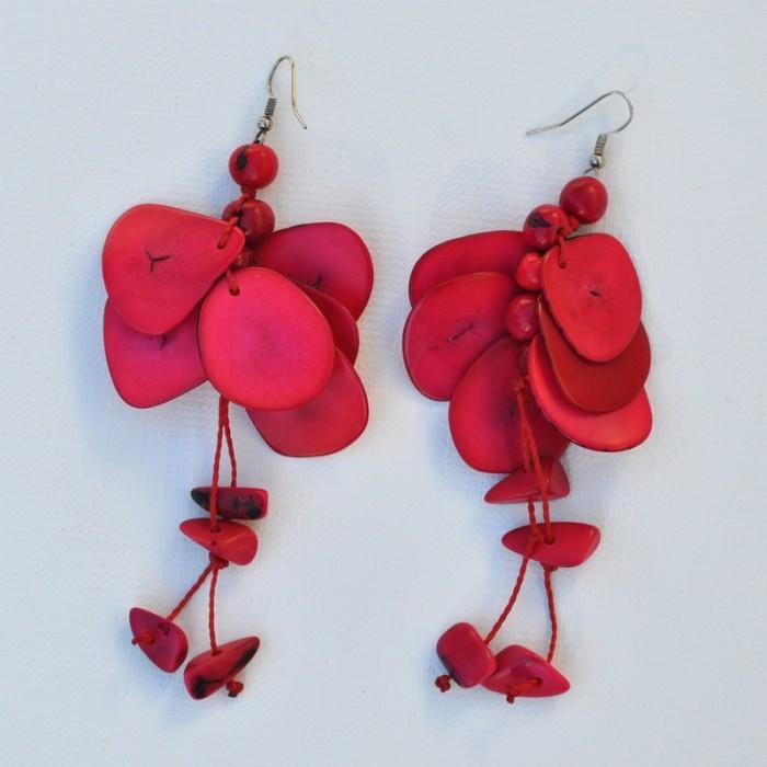 Boucles d'oreilles graine de tagua - La Galerie Equitable