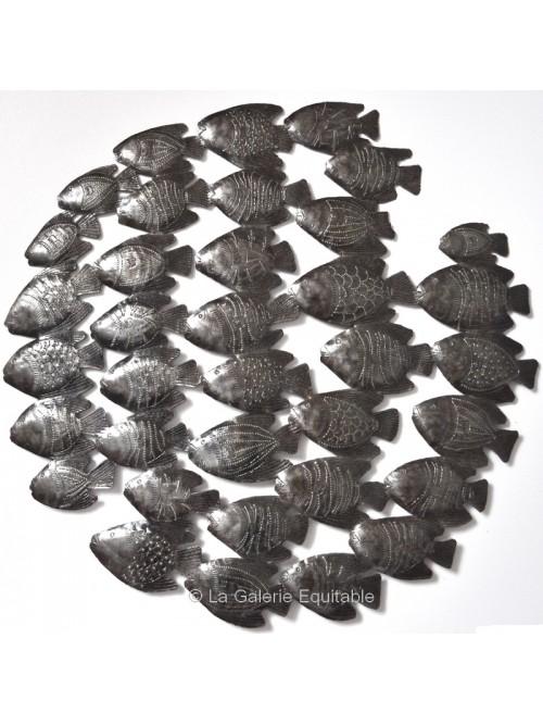 Décor mural poissons en métal - La Galerie Equitable