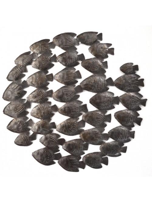 Décor marin en métal martelé - La Galerie Equitable