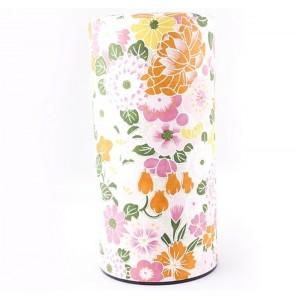 Boîte à thé décor fleuri
