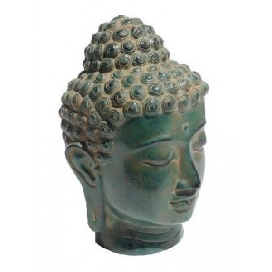 Tête de Bouddha en bronze La Galerie Equitable
